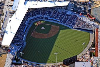 The First Pitch At Gwinnett Stadium